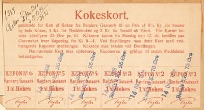 Kokeskort, gældende for Køb af Kokes fra Randers Gasværk ...