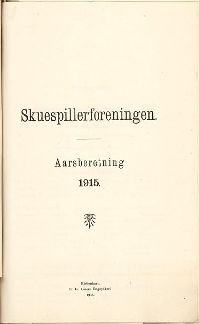 Aarsberetning : 1915