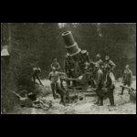 Haubicaink tűzállásban az olasz harctéren