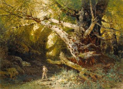 Siegfried vor der Höhle Fafners