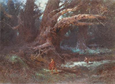 Hermannsschlacht, Schauspiel von Heinrich von Kleist: Szenenbild 5. Akt, 4. Auftritt: Quintilius Varus im Teutoburger Wald