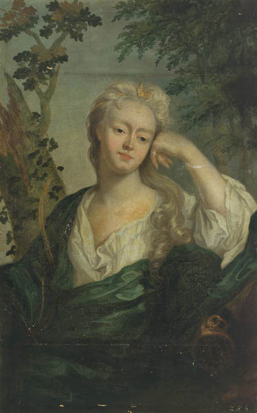 Elisabetha Ernestina Antonia, Äbtissin von Gandersheim, im Alter von 18 Jahren als Diana