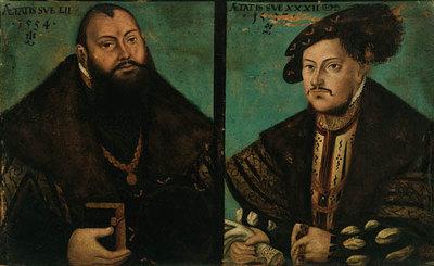 Johann Friedrich I., der Großmütige, von Sachsen (1503-1554) und Johann Ernst von Sachsen (1521-1553)