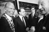 Freiburg: Oberbürgermeister Keidel, Späth, Böhme, Scheel