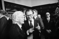 Freiburg: Frau Goldschagg, Ministerpräsident Lothar Späth
