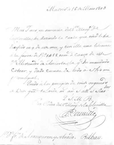 Archivo Agustín Montiano. 10-13 [Recurso electrónico], 1803/05/16