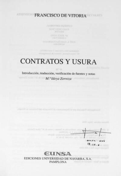Contratos y usura