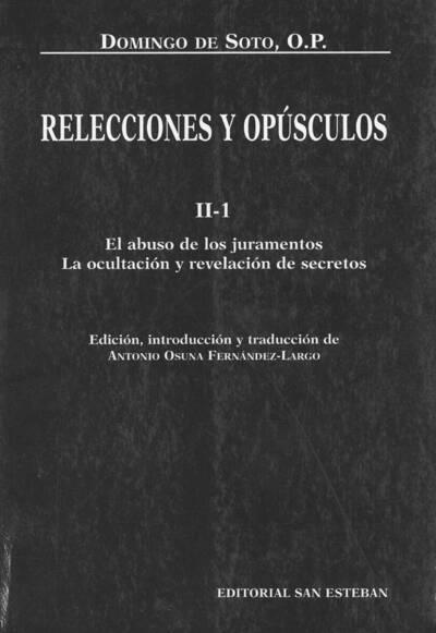 Relecciones y opúsculos, 1995-2003