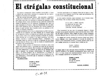 El trágala constitucional