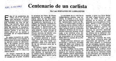 Centenario de un carlista