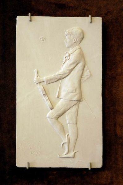 Ritratto di Arthur Andersen con il violino