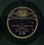 Andre Madalen  [Grabación sonora]  : Fandango ; Ai Nere Praxku-Txomin ; Alegri'ko neskatxak : ariñ ariñ  / Cuarteto Usurbe