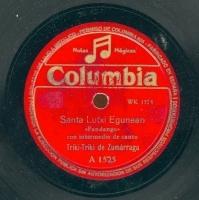 Santa Lutxi egunean  [Grabación sonora]  : fandango  con intermedio de canto ; Porrusalda : ariñ - ariñ : fandango con intermedio de canto  / Triki-Triki de Zumarraga