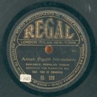 Amak eguiñ ninduben [sic]  [Grabación sonora]  ; Itzasoan udak aundik [sic] : bailable popular vasco  / ejecutado por elementos del Triki-Triki de Zumarraga