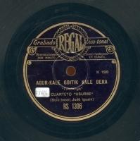 Agur-Kale goitik kale bera  [Grabación sonora]  : Fandango ; Jeronimo-Andre Mari : contradanza  / Cuarteto Usurbe