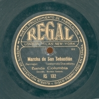 Marcha de San Sebastián  [Grabación sonora]  : tamborrada donostiarra  / Sarriegui. Los rigodones euskaros. Parte 1. / Torre-Muzquiz