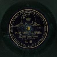 Petra sardin saltzallea  [Grabación sonora]  : canto vasco  / [musika] Sarriegui ; [letra] Iraola. Nere andrea : canto vasco.