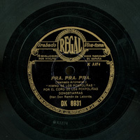 Pra, pra, pra  [Grabación sonora]  : Himno de los Poxpoliñas  / Nemesio Arizmendi. Euzko-Euzkotarrak gera ; Gora Euzkadi : biribilketas