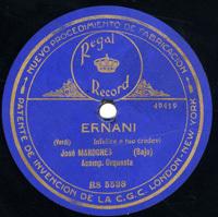 Il Barbiere di Siviglia . La calumnia e un venticello  [Grabación sonora]  / Rossini. Ernani. Infelice e tuo credevi / Verdi