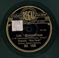 Las golondrinas . Pantomima  [Grabación sonora]  / J. Mª Usandizaga