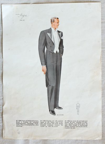 "Lapas nuo madų žurnalo ""Styles for men. Winter 1941–1942"""