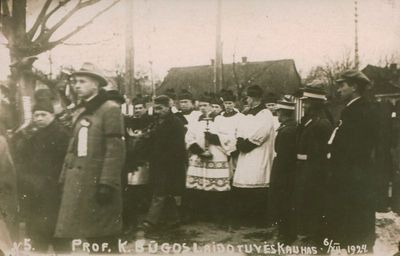Fotografija. Prof. baltisto K. Būgos laidotuvės