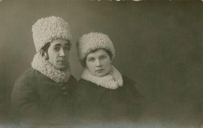 Fotografija. Rašytoja A. Didžiulytė-Kazanavičienė su vyru
