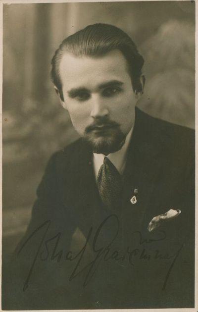 Nuotrauka. Poetas J. Graičiūnas