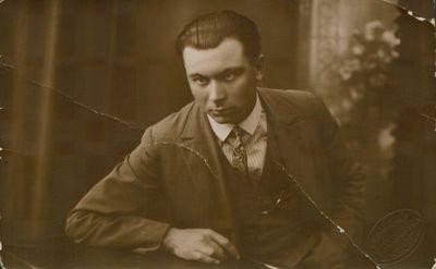 Fotonuotrauka. Rašytojas J. Grušas