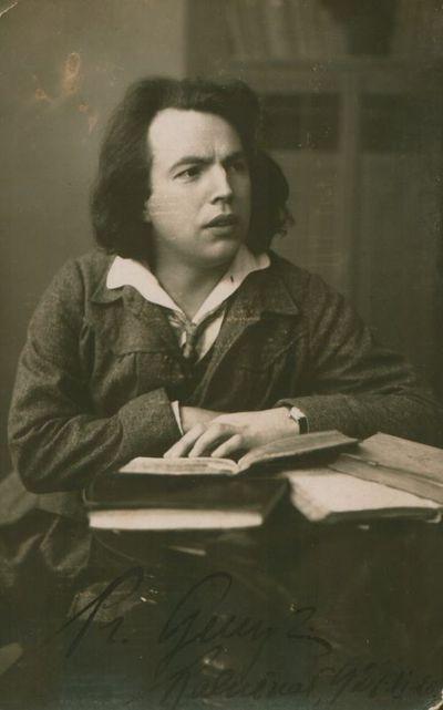 Fotonuotrauka. Poetas P. Genys