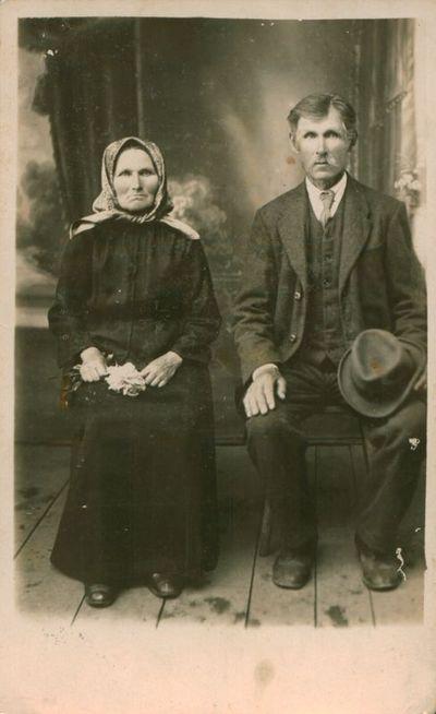 Fotonuotrauka. Žurnalisto V. Gustainio tėvai