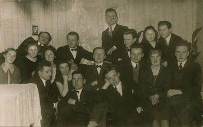 Nuotrauka. Lietuvos universiteto studentai svečiuose pas H. Blazą