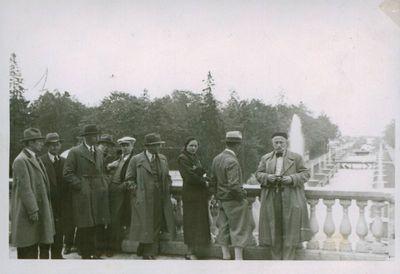 Nuotrauka. Lietuvos žurnalistai, keliaudami po Tarybų Sąjungą