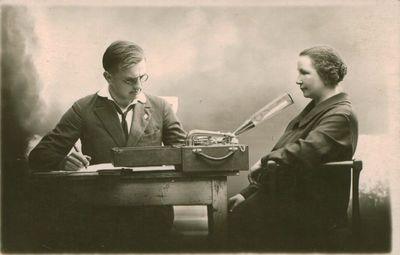 Nuotrauka. Kauno radijo studijos darbuotojai