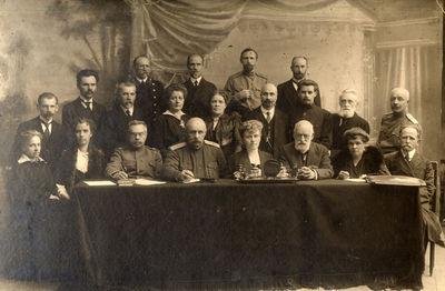 Polesės geležinkelio tarnautojų grupinis portretas
