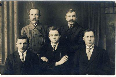 Antanas Kryžanauskas su anykštėnais