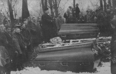 Klaipėdos krašto prijungimas prie Lietuvos. Atsisveikinimas su žuvusiais savanoriais Klaipėdos miesto kapinėse