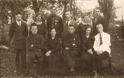 Skapiškio mokytojų kursų lankytojai 1926 metais