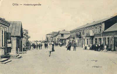 Olita – Hindenburgstraβe. Alytus – Hindenburgo gatvė