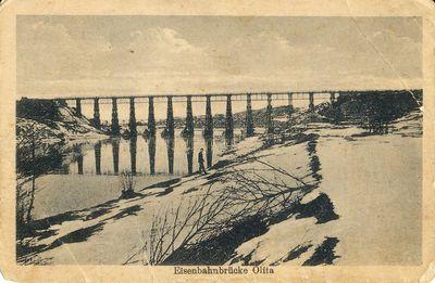 Eisenbahnbrücke Olita. Geležinkelio tiltas, Alytus