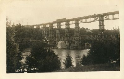 Alytus, medinis geležinkelio tiltas