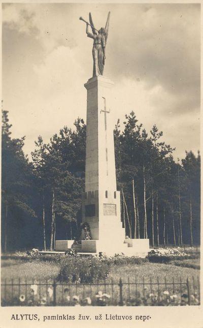 ALYTUS, paminklas žuv. už Lietuvos nepr.