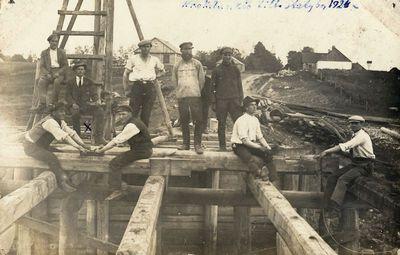 Krokialaukio tilto statyba