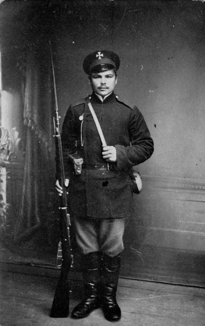 """Nuotrauka """"Carinės Rusijos kariuomenės kareivio Liudviko Alešiūno portretas"""""""