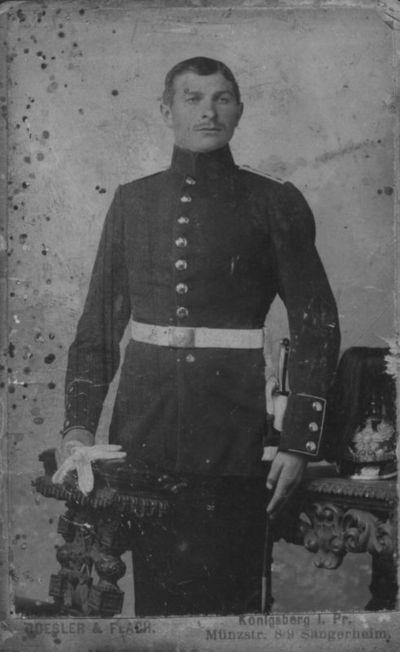 Prūsijos karališkojo Geležinio pulko kareivis Jokūbas Kuršaitis