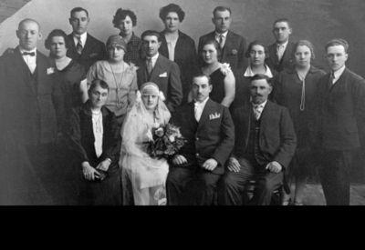 """Grupinė nuotrauka """"Vabalninko miestelio žydų vestuvės"""""""