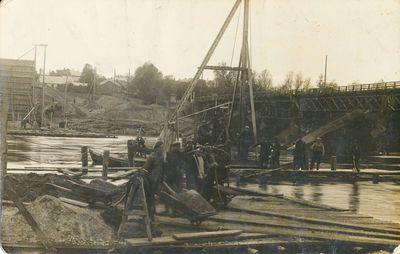 A. Juozapavičiaus vardo tilto statybos darbai