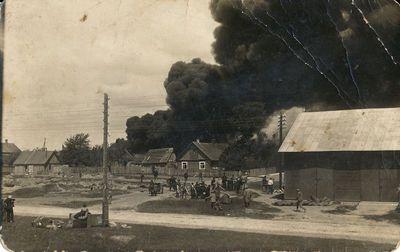 Žibalo sandėlio gaisras Alytuje
