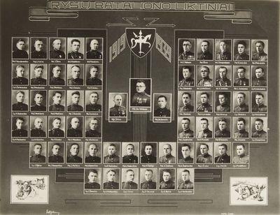 """Nuotrauka """"Lietuvos kariuomenės ryšių bataliono liktiniai"""""""