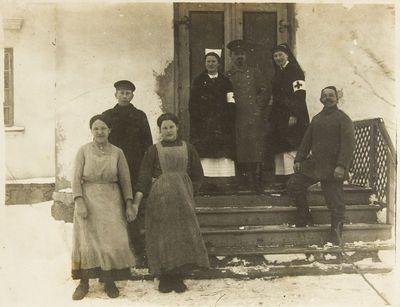 """Nuotrauka """"Vokiečių ligoninė Biržų mieste I-ojo pasaulinio karo metais"""""""